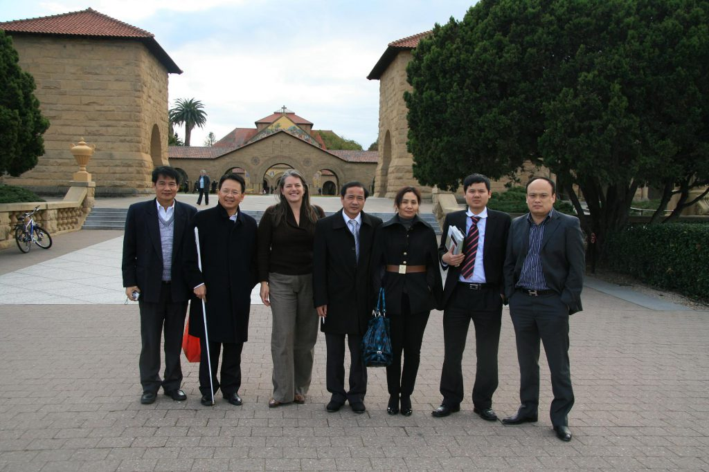 Delegations at the Stanford University